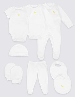8 Piece Pure Cotton Outfit, WHITE MIX, catlanding