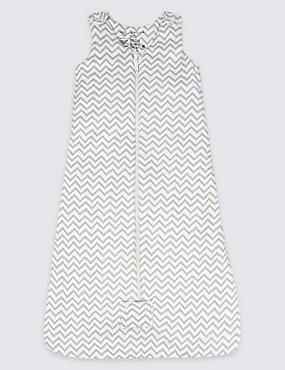 Pure Cotton Multi Way Zip 2.1 Tog Sleeping Bag, GREY MIX, catlanding