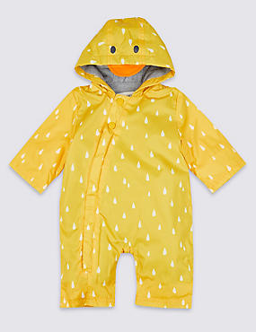 Duck Puddlesuit, YELLOW, catlanding
