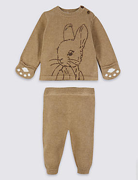2 Piece Peter Rabbit™ Top & Joggers Outfit, MOCHA, catlanding