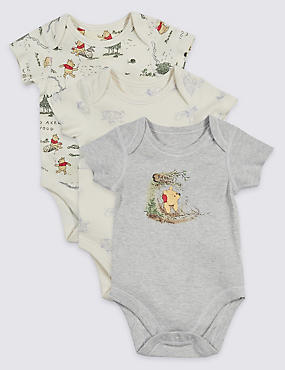 3 Pack Winne the Pooh Unisex Bodysuits