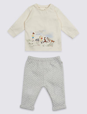 2 Piece Winnie the Pooh & Friends™ Top & Bottom Outfit, VANILLA, catlanding