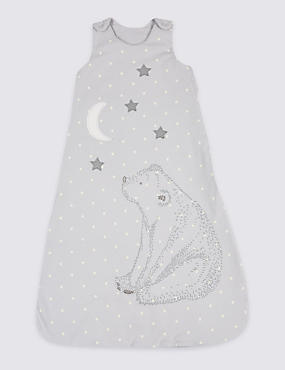 Pure Cotton 1.6 Tog Applique Unisex Sleeping Bag