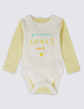 Striped Pure Cotton Bodysuit