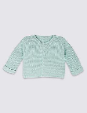 Pure Cotton Lightweight Cardigan, LIGHT GREEN, catlanding