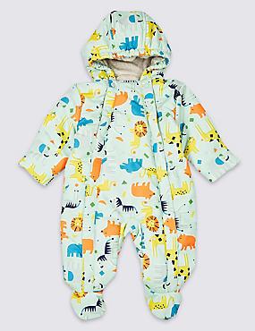 All Over Animal Print Snowsuit, MULTI/BRIGHTS, catlanding