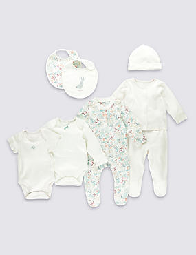 8 Piece Pure Cotton Girls Bunny Set