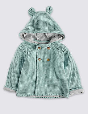Pure Cotton Chunky Hooded Cardigan