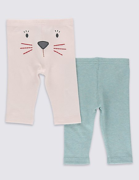 2 Pack Pure Cotton Bunny Leggings