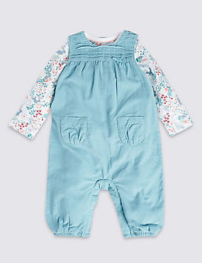 2 Piece Pure Cotton Bodysuit & Dungarees Outfit