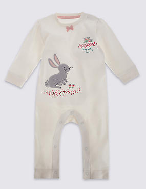 Girls Bunny Applique All in One