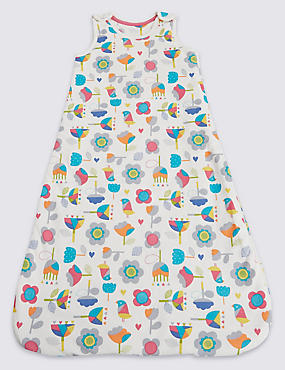 Pure Cotton Floral Print 2.1 Tog Sleeping Bag