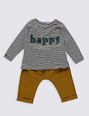 2 Piece Striped T-Shirt & Trousers