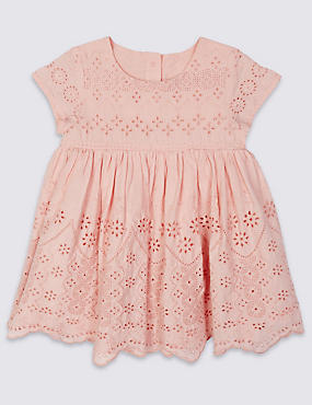 Pure Cotton Broderie Dress