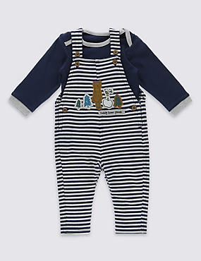 2 Piece Pure Cotton Bodysuit & Dungaree