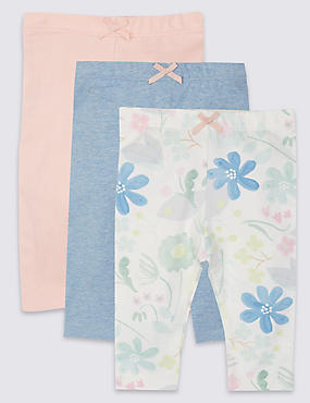 3 Pack Cotton Rich Leggings