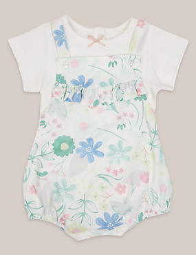 2 Piece Pure Cotton Floral Print Outfit