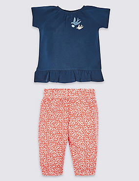 2 Piece Pure Cotton Top & Trousers Outfit