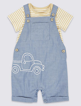 2 Piece Bodysuit & Dungarees Outfit
