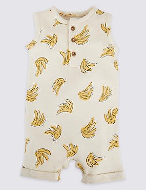 Pure Cotton Banana Print Romper