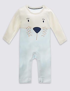 Pure Cotton Bear Print All-in-One