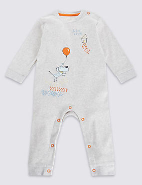 Pure Cotton Dog Print Onesie
