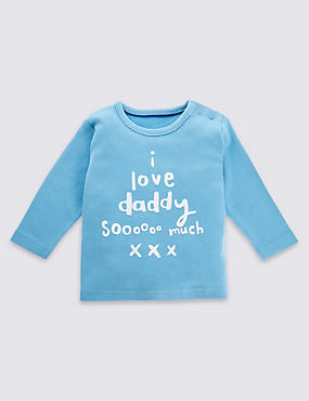 Pure Cotton I Love Daddy So Much T-Shirt