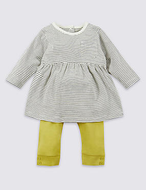 2 Piece Pure Cotton Top & Leggings Outfit