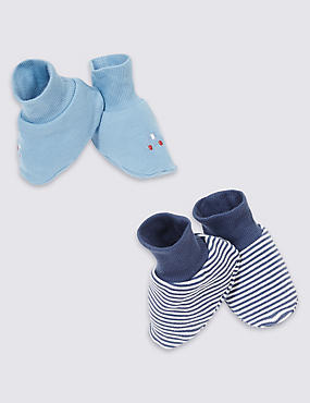 Baby Pure Cotton Striped Car Booties