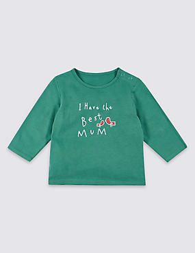 Best Mum Pure Cotton Printed Top