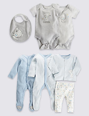 7 Piece Pure Cotton Boys Starter Set
