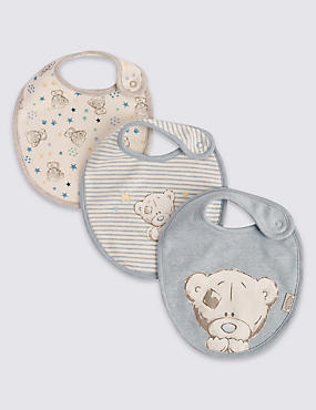 3 Pack Pure Cotton Assorted Dribble Bibs