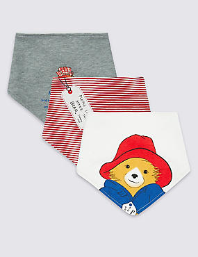 Paddington™ 3 Pack Pure Cotton Bibs