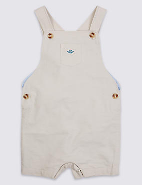 Boys Woven Bib Short (3 Months - 3 Years)