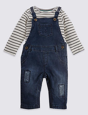 2 Piece Pure Cotton Dungaree