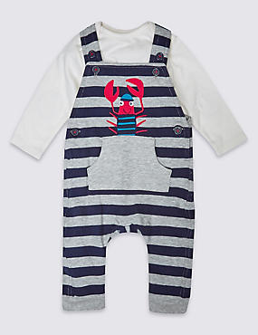2 Piece Pure Cotton Dungaree Outfit