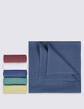 5 Pack Pure Cotton Muslin Squares, BLUE MIX, catlanding