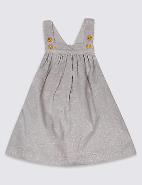 Pure Cotton Pinafore Dress