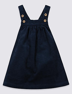 Pure Cotton Cord Pinny Dress