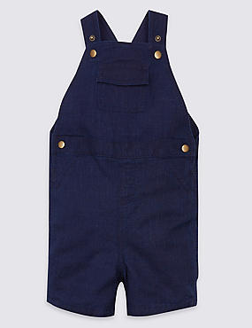 Pure Cotton Textured Dungarees