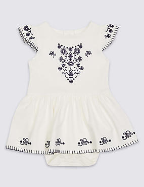 Pure Cotton Embellished Dress