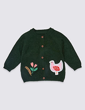 Applique Pocket Cardigan