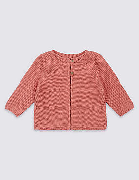 Pure Cotton Knitted Cardigan