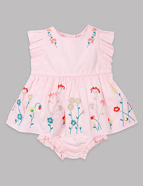 2 Piece Pure Cotton Dress with Knickers