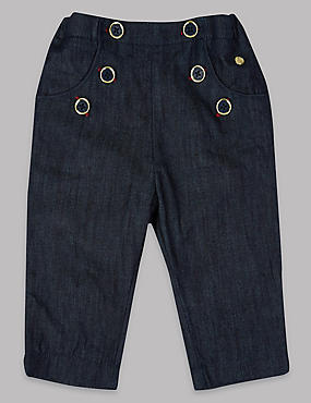 Pure Cotton Denim Trousers
