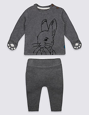 2 Piece Pure Cotton Peter Rabbit™ Top & Bottom Outfit