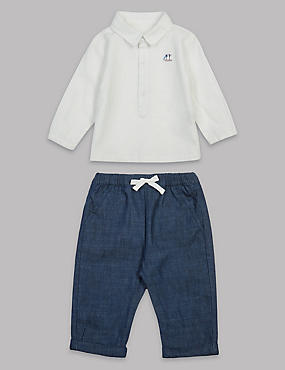 2 Piece Shirt & Trousers Baby Outfit