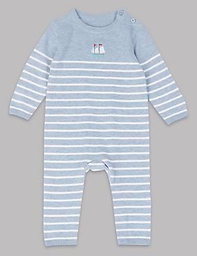 Pure Cotton Striped Baby All in One