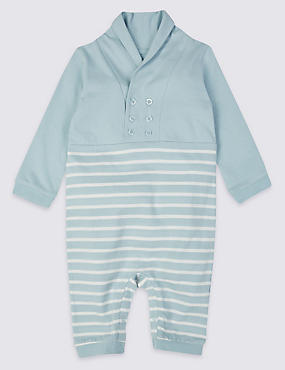 Striped Pure Cotton All-in-One