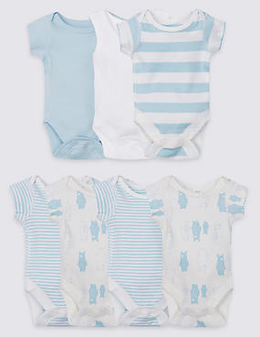 7 Pack Pure Cotton Bodysuits
